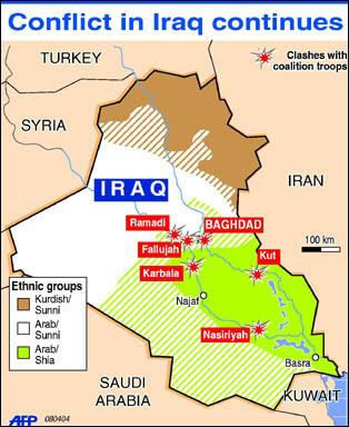 Donhodgescom Imagesiraq - Map showing us and iraq